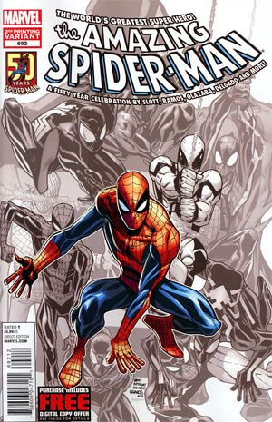 Amazing Spider-Man Vol 2 #692 Cover G 2nd Ptg Humberto Ramos Variant Cover