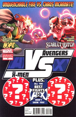 AVX VS #6 Cover B Incentive Stuart Immonen Fight Poster Variant Cover (Avengers vs X-Men Tie-In)