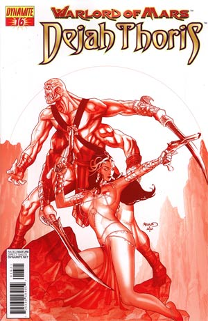 Warlord Of Mars Dejah Thoris #16 Incentive Paul Renaud Martian Red Cover