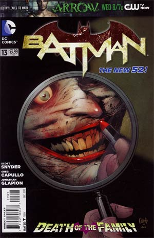 Batman Vol 2 #13 Cvr B Variant Greg Capullo Cover (Death Of The Family Tie-In)