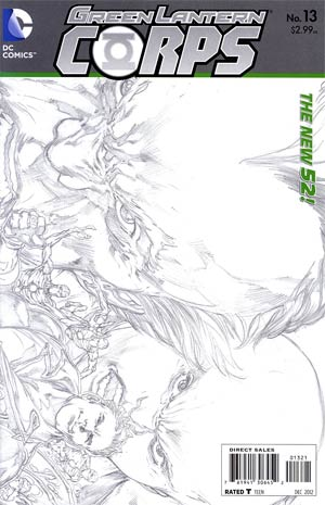 Green Lantern Corps Vol 3 #13 Incentive Ivan Reis Sketch Cover (Rise Of The Third Army Tie-In)
