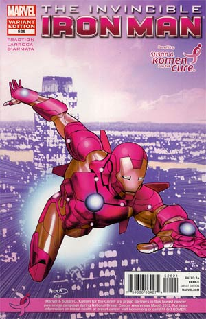 Invincible Iron Man #526 Variant Susan Komen Cover