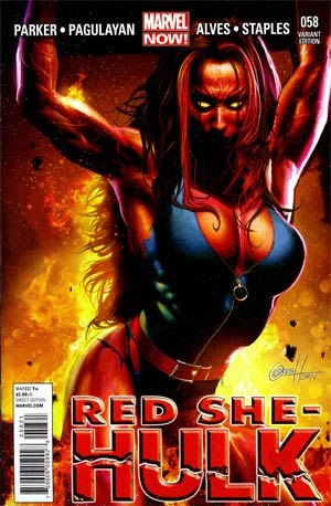 Red She-Hulk #58 Incentive Greg Horn Variant Cover
