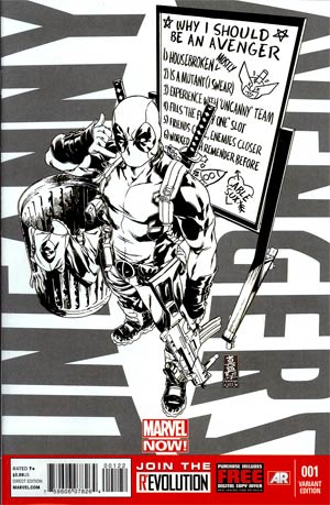 Uncanny Avengers #1 Incentive Deadpool Call Me Maybe Sketch Cover
