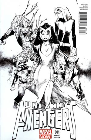 Uncanny Avengers #1 Incentive Olivier Coipel Sketch Cover