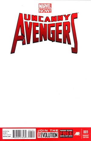 Uncanny Avengers #1 Variant Blank Cover