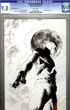 Extermination #3 Incentive John Cassaday Virgin Sketch Variant Cover CGC 9.8