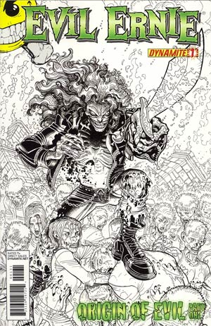 Evil Ernie Vol 3 #1 Incentive Nick Bradshaw Black & White Cover
