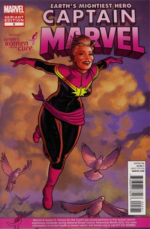 Captain Marvel Vol 6 #5 Variant Susan Komen Cover