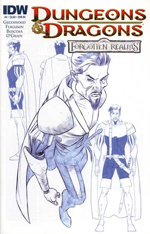 Dungeons & Dragons Forgotten Realms #4 Incentive Character Design Variant Cover