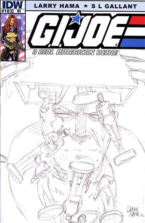 GI Joe A Real American Hero #183 Incentive Larry Hama Sketch Variant Cover