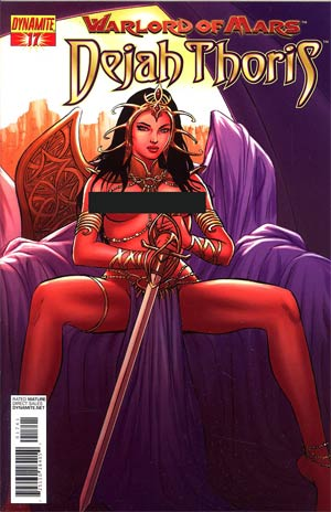 Warlord Of Mars Dejah Thoris #17 Incentive Jose Malaga Risque Art Variant Cover