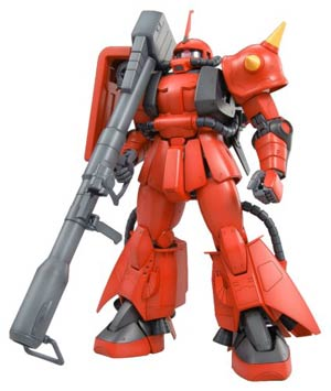 Gundam Model Kit Action Figure Master Grade 1/100 Scale - MS-06R-2 Zaku II Principality Of Zeon J.Riddens Customize Mobile Suit