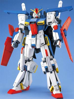 Gundam Model Kit Action Figure Master Grade 1/100 Scale - MSZ-010 ZZ Gundam A.E.U.G. Multipurpose Prototype Transformable Mobile Suit