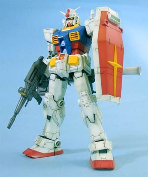 Gundam Model Kit Action Figure Master Grade 1/100 Scale - RX-78-2 Gundam Version One Year War 0079 (Anime Color)