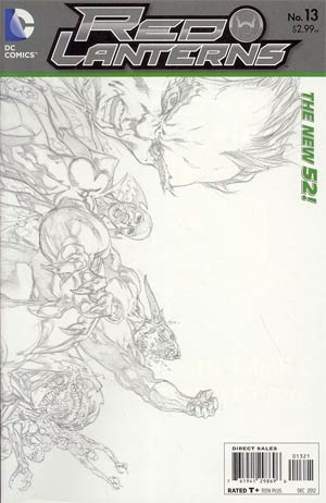 Red Lanterns #13 Incentive Ivan Reis Sketch Cover (Rise Of The Third Army Tie-In)