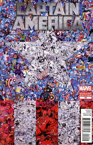 Captain America Vol 6 #19 Incentive Collage Variant Cover