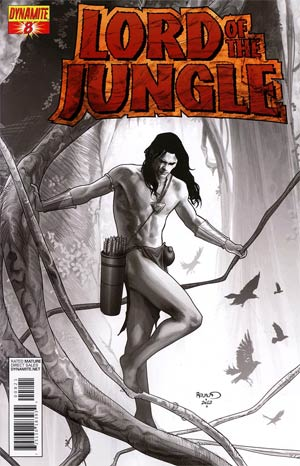 Lord Of The Jungle #8 Incentive Paul Renaud Black & White Cover