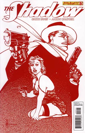 Shadow Vol 5 #6 Incentive Howard Chaykin Blood Red Cover