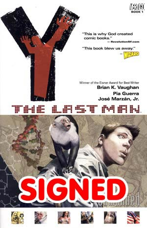 Y The Last Man Vol 1 Unmanned TP Signed By Brian K Vaughan