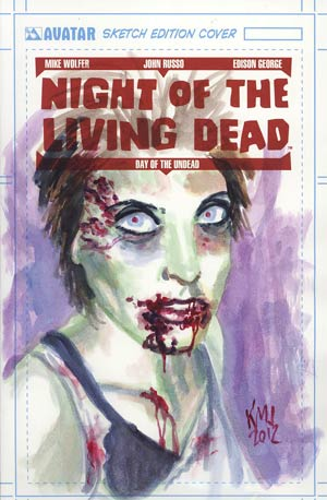 Night Of The Living Dead Day Of The Undead GN Incentive Original Painted Art Cover