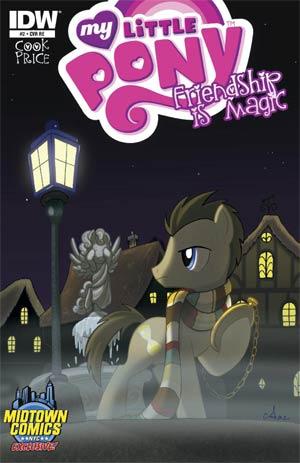 My Little Pony Friendship Is Magic #2 Midtown Exclusive Amy Mebberson Time Turner Variant Cover