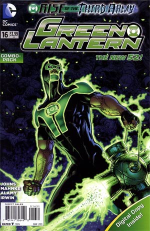 Green Lantern Vol 5 #16 Combo Pack With Polybag (Rise Of The Third Army Tie-In)
