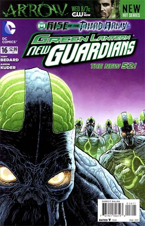 Green Lantern New Guardians #16 Regular Aaron Kuder Cover (Rise Of The Third Army Tie-In)