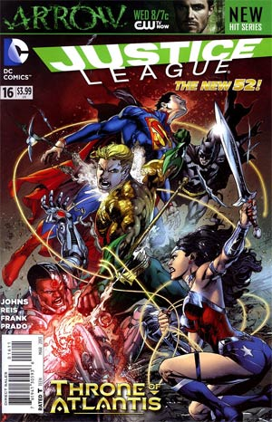Justice League Vol 2 #16 Regular Ivan Reis Cover (Throne Of Atlantis Part 3)