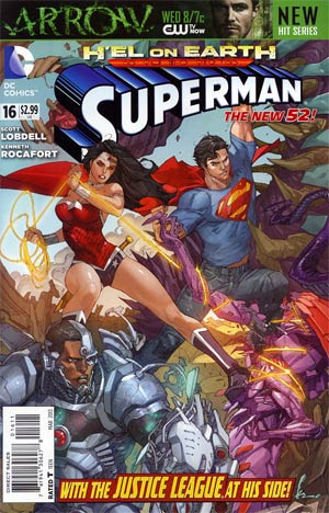 Superman Vol 4 #16 Regular Kenneth Rocafort Cover (Hel On Earth Tie-In)
