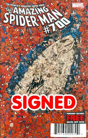 Amazing Spider-Man Vol 2 #700 DF Signed By Stan Lee