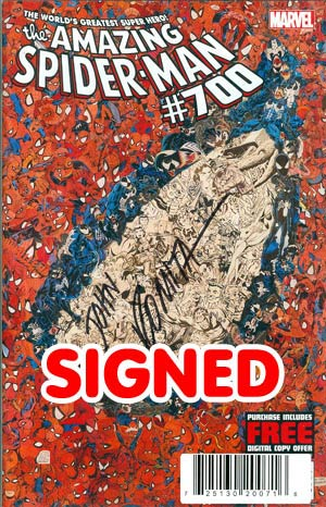 Amazing Spider-Man Vol 2 #700 DF Signed By John Romita Sr
