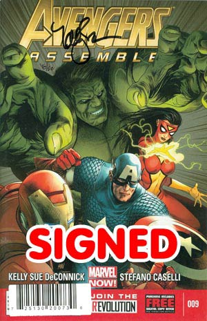 Avengers Assemble #9 DF Signed By Kelly Sue DeConnick