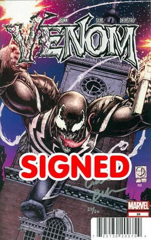 Venom Vol 2 #28 Cover B DF Signed By Cullen Bunn