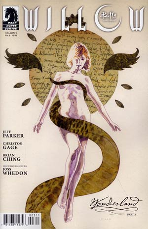 Buffy The Vampire Slayer Willow Wonderland #3 Regular David Mack Cover