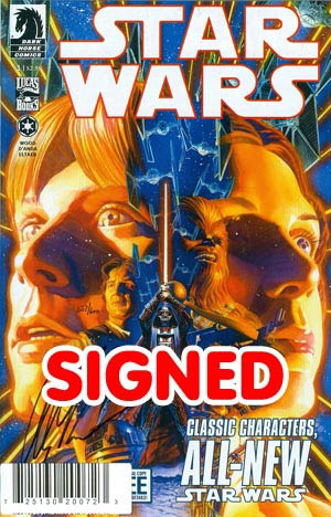 Star Wars (Dark Horse) Vol 2 #1 DF Signed By Alex Ross
