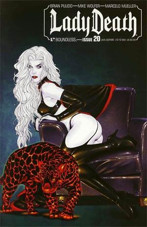 Lady Death Vol 3 #20 Lava Leopard Cvr