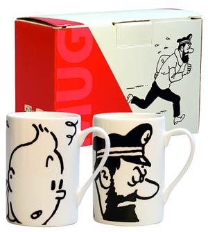 Tintin Mug Set - Tintin & Haddock
