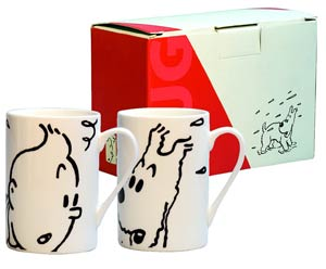 Tintin Mug Set - Tintin & Snowy
