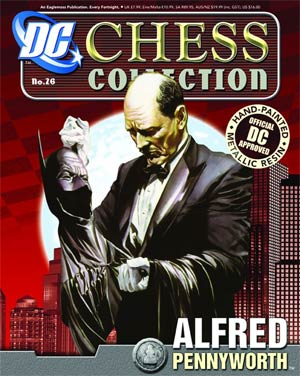 DC Superhero Chess Figure Collector Magazine #26 Alfred Pennyworth White Pawn