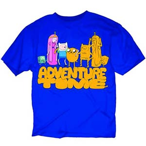 Adventure Time Cloned Friends Previews Exclusive Blue T-Shirt Large