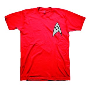 Star Trek Red Shirt Costume T-Shirt Large