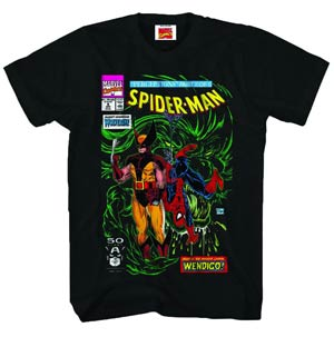 Wolverine Spider-Man Perception Black T-Shirt Large