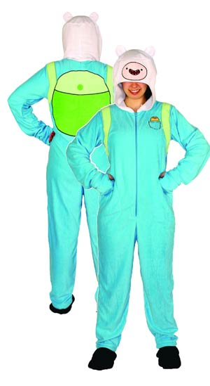 Adventure Time Finn 1-Piece Pajama Large