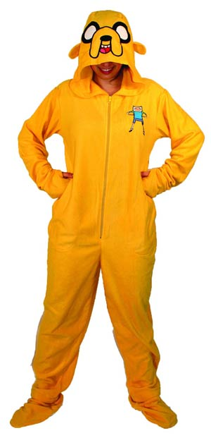 Adventure Time Jake 1-Piece Pajama Large