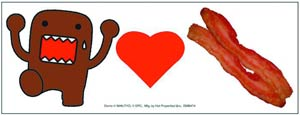 Domo Car Magnet - Domo Loves Bacon