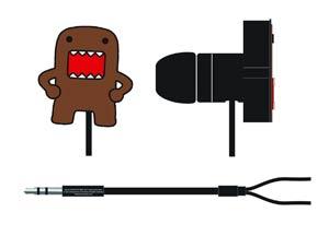 Domo Die-Cut PVC Earbuds