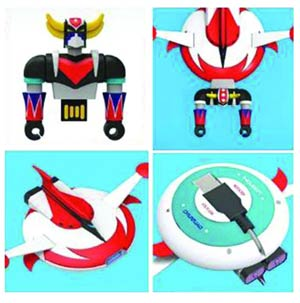 Grendizer & Saucer 4GB USB Flashdrive And Hub