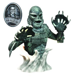 DO NOT USE (duplicate listing) Universal Monsters Black & White Creature From The Black Lagoon Bust Bank