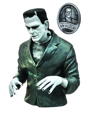DO NOT USE (duplicate listing) Universal Monsters Black & White Frankenstein Bust Bank